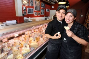 John and Kendall Antonelli owners of AntonelliÕs Cheese Shop on March 23, 2010